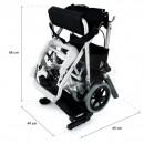 QMED 183-9001L-36 - Scaun pliabil din aluminiu cu frane, special pentru acasa cu husa de transport