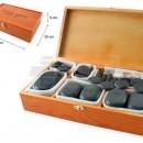 QMED 956-PHS60W - Pietre calde din Bazalt pentru terapii, in cutie de lemn