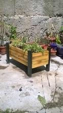 Дървено сандъче за цветя