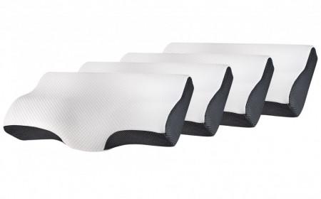 Set 4X perne cu suport pentru gat din spuma cu memorie Suporto®️ 60 x 34 x 11/7 cm cu perforatii