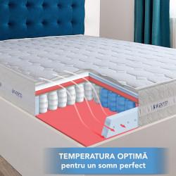 Saltea ortopedica 140x200 de pat cu arcuri si spuma de memorie