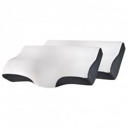 Set 2X perne cu suport pentru gat din spuma cu memorie Suporto®️ 60 x 34 x 11/7 cm cu perforatii