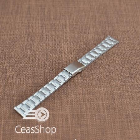 Bratara metalica argintie 18mm - 38646