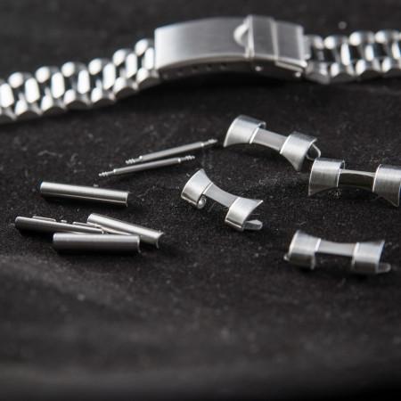 Bratara metalica reglabila argintie capete curbate 18-20mm - 20489