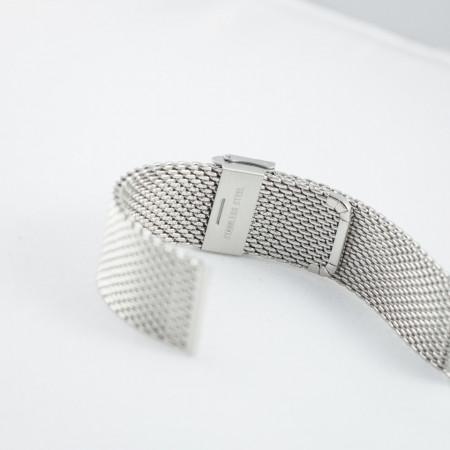 Bratara milaneza argintie 14mm -38184