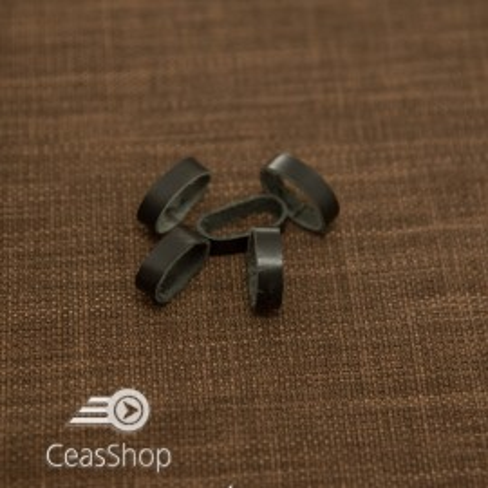 Bride negre din piele pentru curele - 22mm