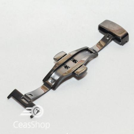 Catarama neagra model fluture cu buton pentru deschidere 18mm