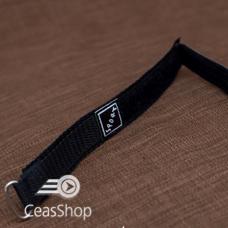 Curea din tesatura de nylon neagra sport cu arici 18mm - 37023