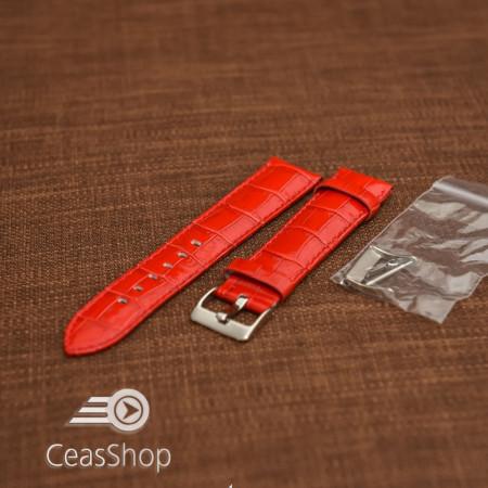 Curea model crocodil captusita roșie 20m - 45791