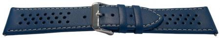 Curea model olimpic perforata albastră cu alb 22mm - 51507
