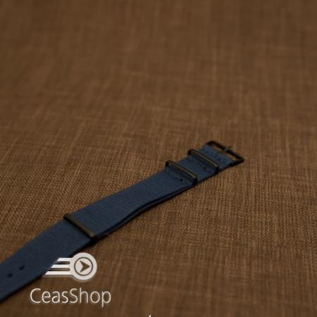 Curea NATO albastra 18mm catarame negre - 40041