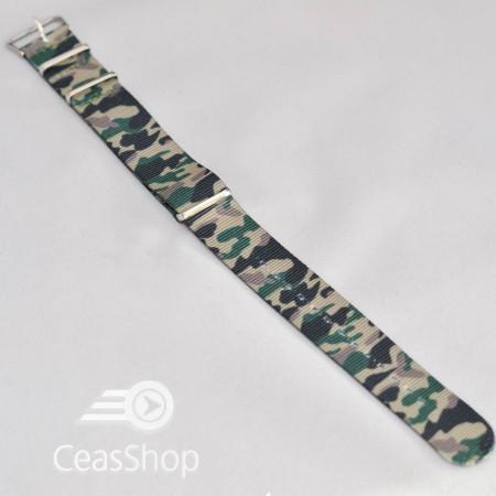 Curea NATO camuflaj verde 18mm - 36796