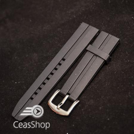 Curea  neagra silicon ceas sport  20mm - 34599