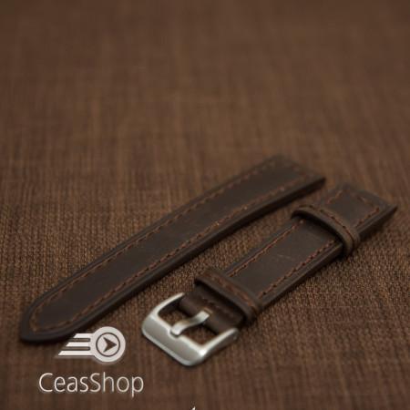 Curea piele maron inchis 24mm - 42211