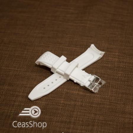 Curea silicon alba capat curbat 22mm - 43391