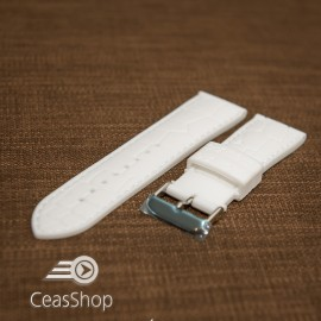 Curea silicon model crocodil albă 18mm - 45919