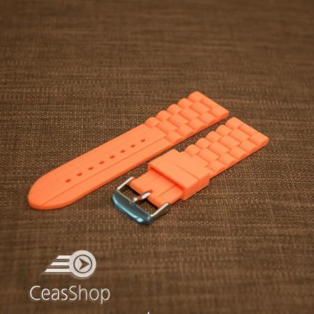 Curea silicon portocalie 20mm - 45884