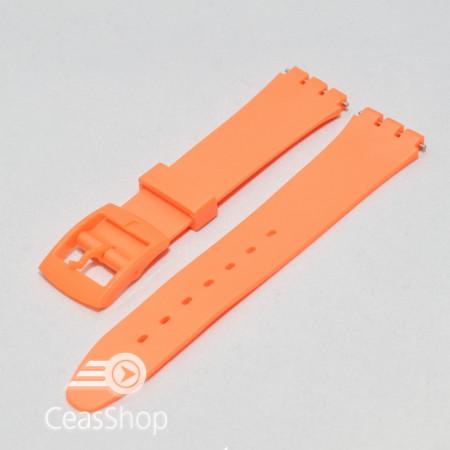 Curea tip Swatch 17 mm portocalie