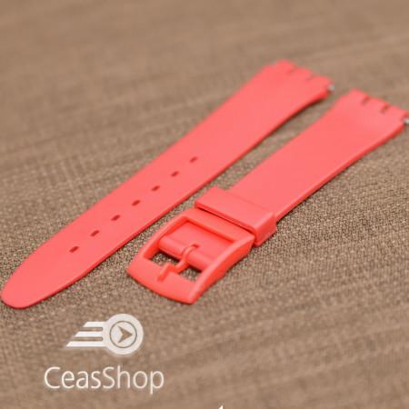 Curea tip Swatch 17 mm rosie
