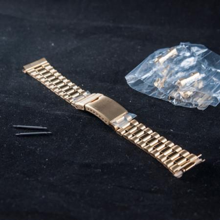 Bratara metalica reglabila aurie capete curbate 18-20mm XL - 40019