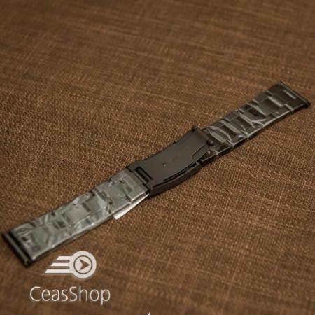 Bratara neagra 22mm capat drept - 40599