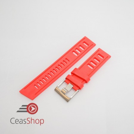 Curea ceas stil Isofrane rosie 22mm - 52215