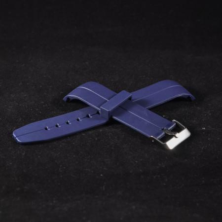 Curea din poliuretan curbata albastra 20mm - 35992