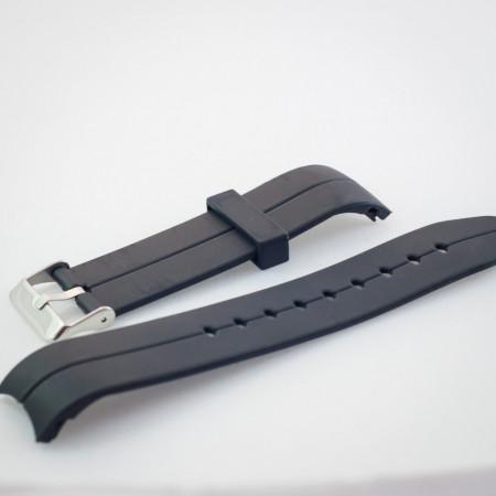 Curea din poliuretan curbata neagra 22mm - 35991