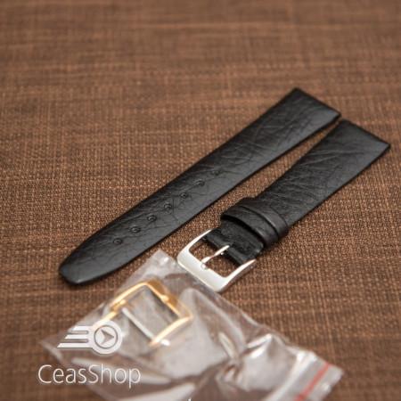Curea piele bufalo, plată  fără,cusatură neagră 18mm - 40072