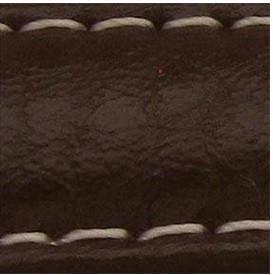 Curea piele buffalo captusita maro inchis 22 mm - 34842