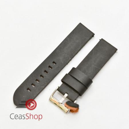 Curea piele neagră vintage QR 24mm - 3830124