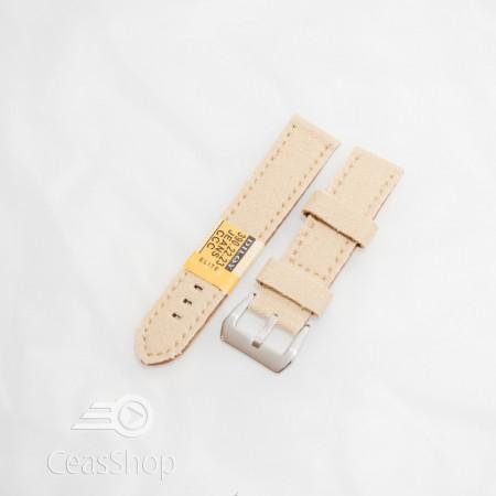 Curea piele si jeans crem 18mm - 3901823