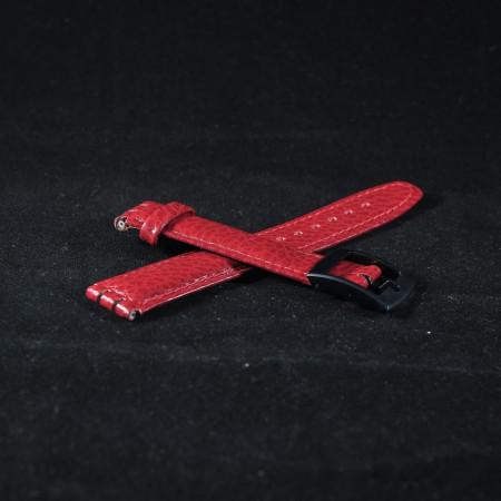 Curea piele tip Swatch 17 mm rosie - 31011