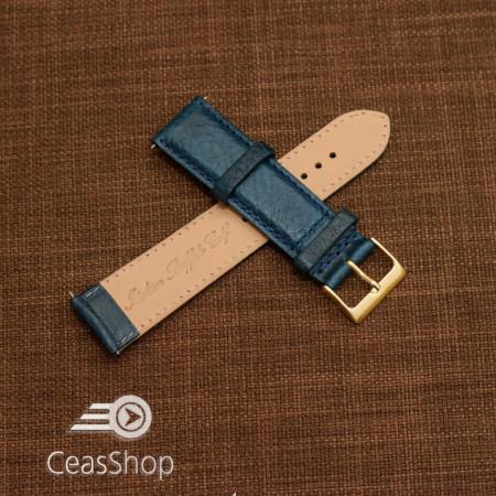 Curea piele VERONA albastră, captusita  22mm - 48087