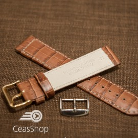Curea piele vitel handmade maro XL 22mm - 33627