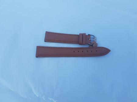 Curea piele vitel maro deschis mată 14mm - 7020314