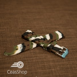 Curea silicon camuflaj 18mm - 45887