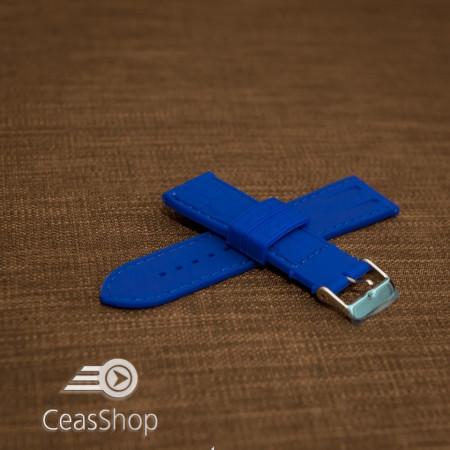 Curea silicon model crocodil albastru electric 22mm - 45913