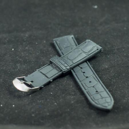 Curea silicon neagra 22mm