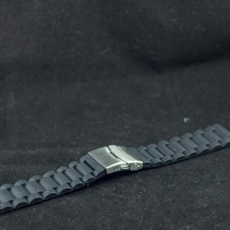 Curea silicon neagra 24mm - 34604