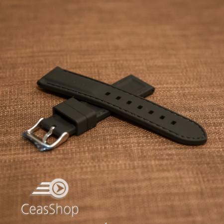 Curea silicon neagră cusături negre 28mm - 42282