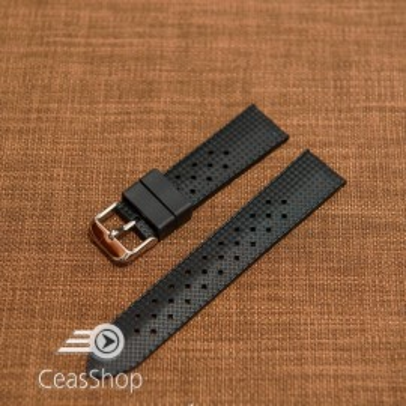 Curea silicon neagră model Rolex Tropic 22mm -47044
