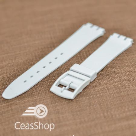 Curea tip Swatch 14 mm alba - 31001