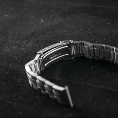 Bratara metalica reglabila argintie capete drepte 18 si 20mm - 31014