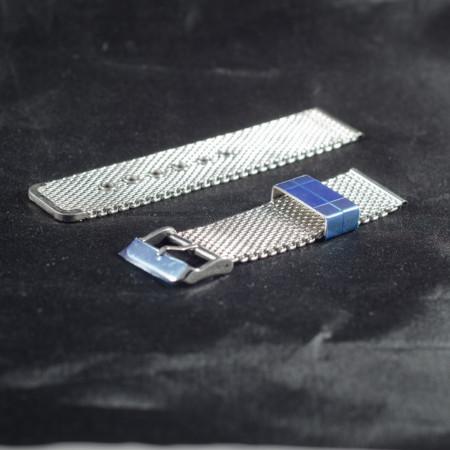 Bratara milaneza cu catarama argintie 18mm -38677