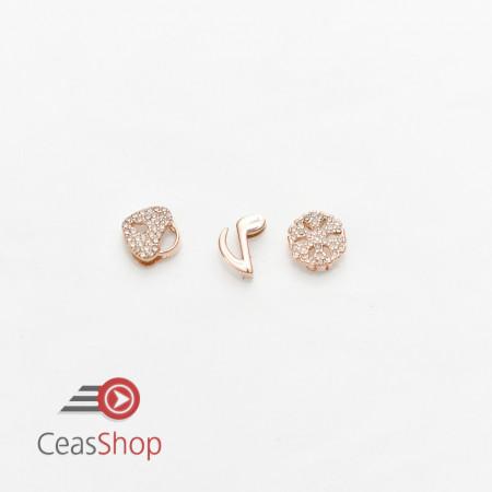 Charm pentr bratara tip Pandora milaneza aur roz