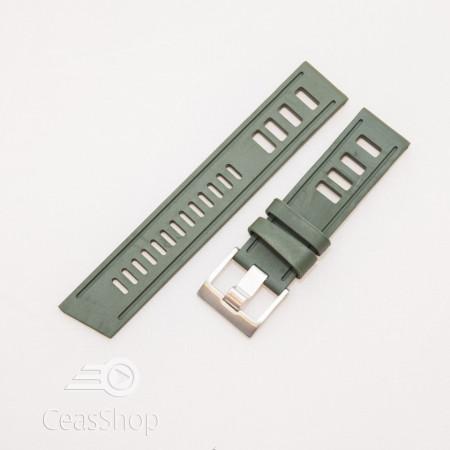 Curea ceas stil Isofrane verde 22mm - 49789