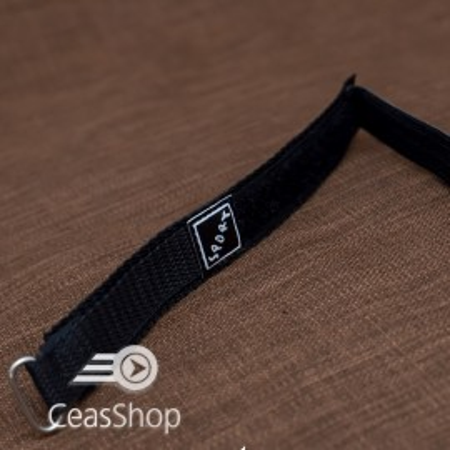Curea din tesatura de nylon neagra sport cu arici 20mm - 37024