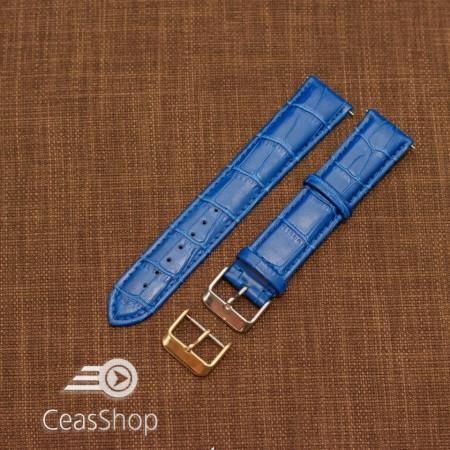 Curea model crocodil captusita albastră  22m XL - 45746