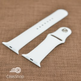 Curea silicon albă Apple Watch - 38mm